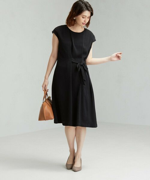 green label relaxing / グリーンレーベル リラクシング ドレス | D GB リボン ギャザー ワンピース | 詳細1
