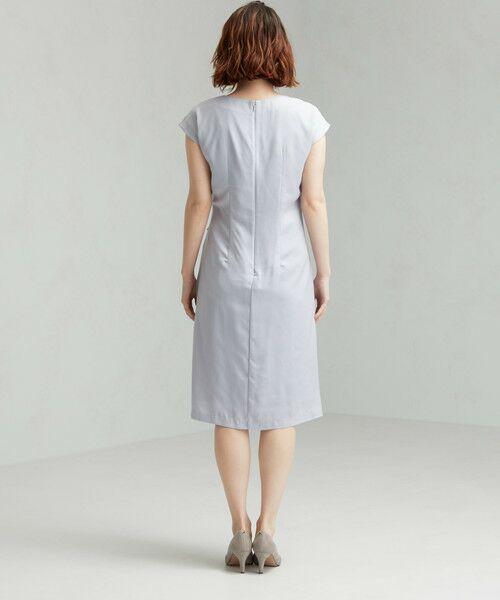 green label relaxing / グリーンレーベル リラクシング ドレス | D GB リボン ギャザー ワンピース | 詳細2
