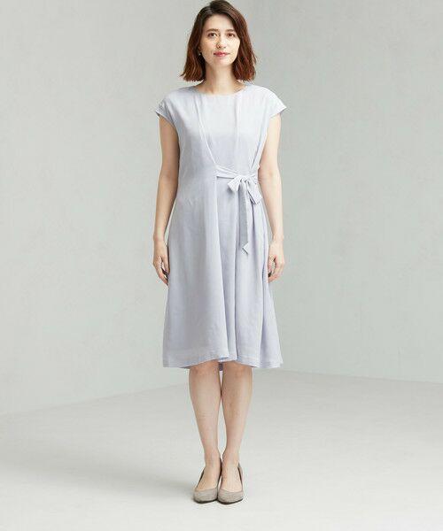 green label relaxing / グリーンレーベル リラクシング ドレス | D GB リボン ギャザー ワンピース | 詳細3