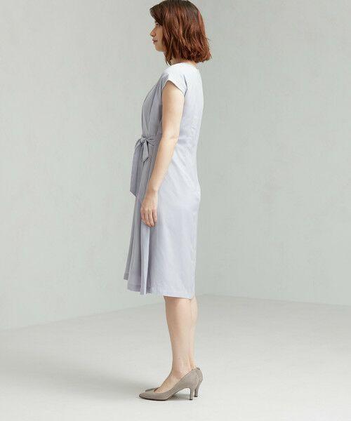 green label relaxing / グリーンレーベル リラクシング ドレス | D GB リボン ギャザー ワンピース | 詳細4