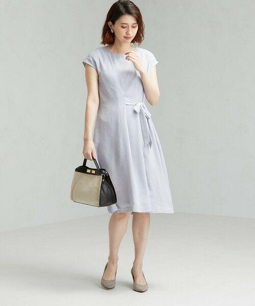 green label relaxing / グリーンレーベル リラクシング ドレス | D GB リボン ギャザー ワンピース | 詳細5