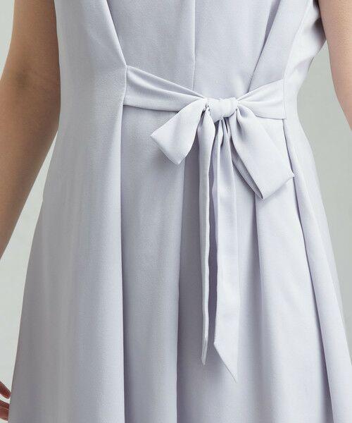 green label relaxing / グリーンレーベル リラクシング ドレス | D GB リボン ギャザー ワンピース | 詳細9