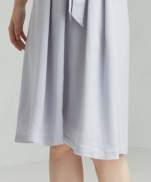 green label relaxing / グリーンレーベル リラクシング ドレス | D GB リボン ギャザー ワンピース | 詳細10
