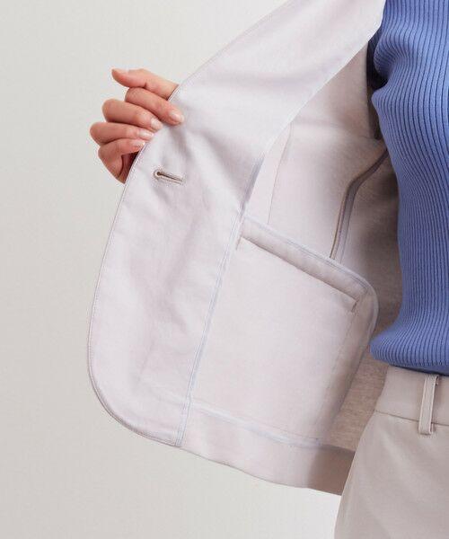 green label relaxing / グリーンレーベル リラクシング ノーカラージャケット   [洗濯可能] ◆D モクロディ ノーラペル ジャケット   詳細1