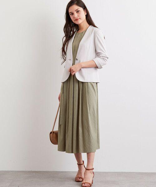 green label relaxing / グリーンレーベル リラクシング ノーカラージャケット   [洗濯可能] ◆D モクロディ ノーラペル ジャケット   詳細3