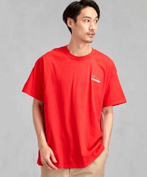 green label relaxing / グリーンレーベル リラクシング Tシャツ | [ナナナナイチエム] SC★771m 刺繍 ish-Tee / Tシャツ(RED)