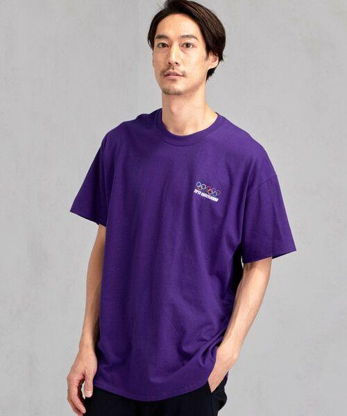 green label relaxing / グリーンレーベル リラクシング Tシャツ | [ナナナナイチエム] SC★771m 刺繍 ish-Tee / Tシャツ(PURPLE)