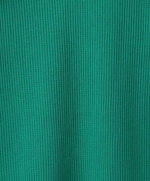 green label relaxing / グリーンレーベル リラクシング ロング・マキシ丈ワンピース | 【キッズ】〔吸水速乾〕ドライワッフルキーネックフリルスリーブワンピース | 詳細5