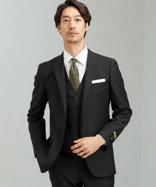 green label relaxing / グリーンレーベル リラクシング セットアップ   [ マルゾット ] MARZOTTO ドビー無地 2B S/BK FS SP- スーツ ジャケット   詳細2