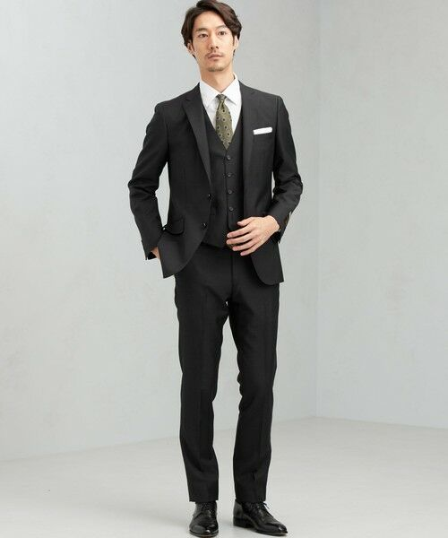 green label relaxing / グリーンレーベル リラクシング セットアップ   [ マルゾット ] MARZOTTO ドビー無地 2B S/BK FS SP- スーツ ジャケット   詳細3