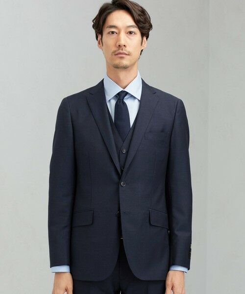 green label relaxing / グリーンレーベル リラクシング セットアップ   [ マルゾット ] MARZOTTO ドビー無地 2B S/BK FS SP- スーツ ジャケット   詳細8