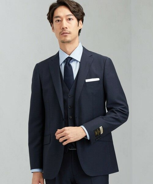green label relaxing / グリーンレーベル リラクシング セットアップ   [ マルゾット ] MARZOTTO ドビー無地 2B S/BK FS SP- スーツ ジャケット   詳細17
