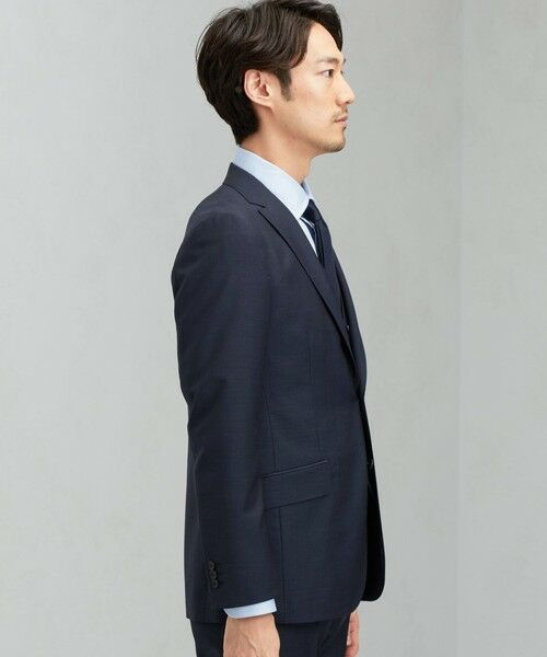 green label relaxing / グリーンレーベル リラクシング セットアップ   [ マルゾット ] MARZOTTO ドビー無地 2B S/BK FS SP- スーツ ジャケット   詳細9