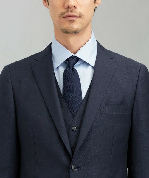 green label relaxing / グリーンレーベル リラクシング セットアップ   [ マルゾット ] MARZOTTO ドビー無地 2B S/BK FS SP- スーツ ジャケット   詳細11