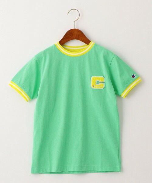 green label relaxing / グリーンレーベル リラクシング カットソー | 【ジュニア】〔別注〕CHAMPION(チャンピオン)リンガーショートスリーブTシャツ(LIME)