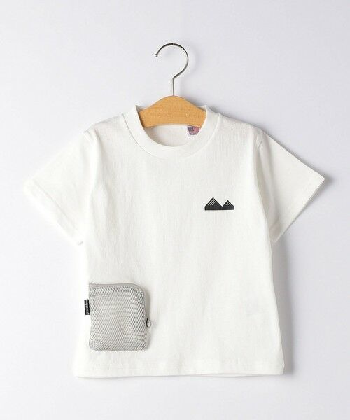 green label relaxing / グリーンレーベル リラクシング カットソー   【キッズ】〔別注〕grn outdoor ポケットT マスク付き(WHITE)