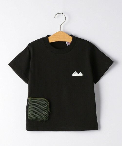 green label relaxing / グリーンレーベル リラクシング カットソー   【キッズ】〔別注〕grn outdoor ポケットT マスク付き(BLACK)