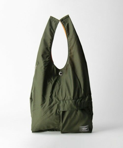 green label relaxing / グリーンレーベル リラクシング エコバッグ | [ ポーター ] PORTER BAGGER CVS BAG コンビニエンスストア エコバッグ(OLIVE)