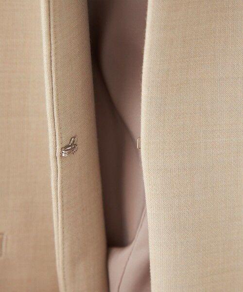 green label relaxing / グリーンレーベル リラクシング ノーカラージャケット | 【WEB限定】[ XS /H148-155cm]ダブルクロス ノーラペル ジャケット -ウォッシャブル・ストレッチ・防シワ- | 詳細8