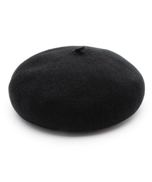 grove / グローブ ハンチング・キャスケット・ベレー帽 | サーモニットベレー(ブラック(019))