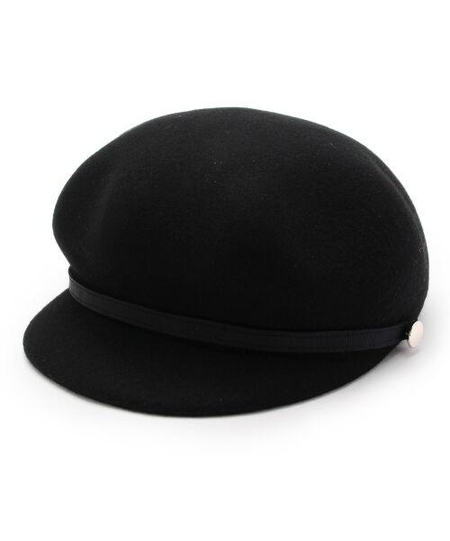 grove / グローブ ハンチング・キャスケット・ベレー帽 | フェルトキャスケット(ブラック(019))