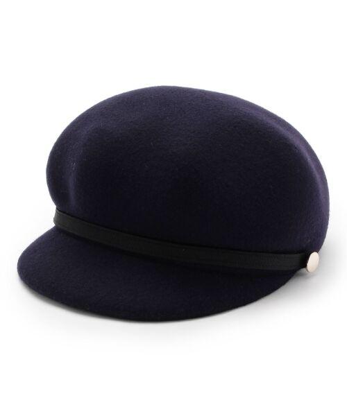 grove / グローブ ハンチング・キャスケット・ベレー帽 | フェルトキャスケット(ネイビー(093))