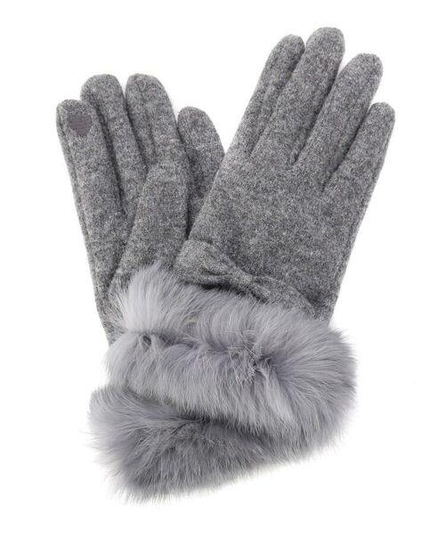 f8c641c5b7eb11 セール】ラビットファー手袋 (手袋) grove / グローブ ファッション ...