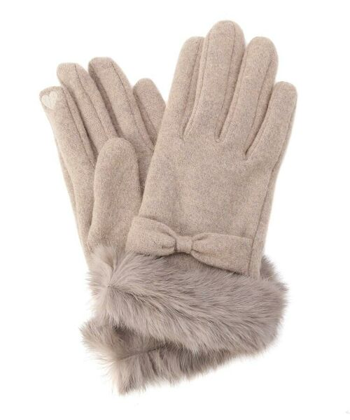 e7971201a1525e grove / グローブ 手袋   ラビットファー手袋(ブラウン(042)) ブラウン(042)