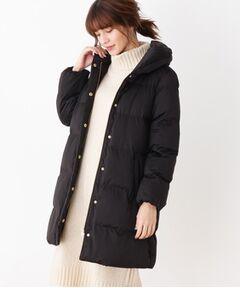 襟ボリューム 中綿コート