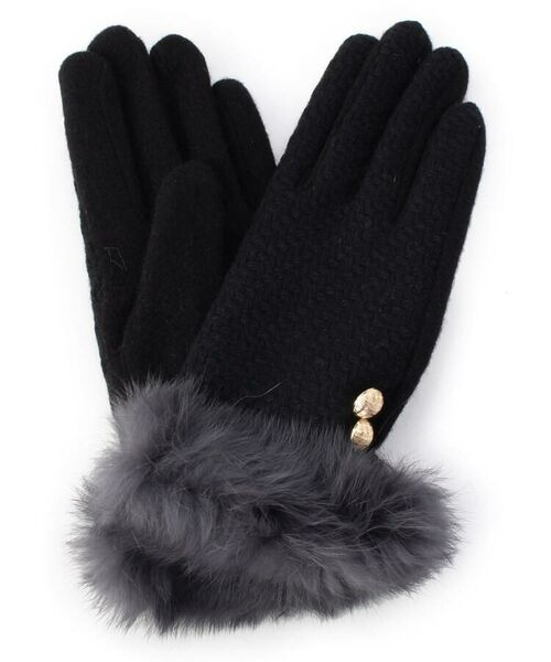 073a043b02eb83 セール】ボタンファーグローブ (手袋) grove / グローブ ファッション ...