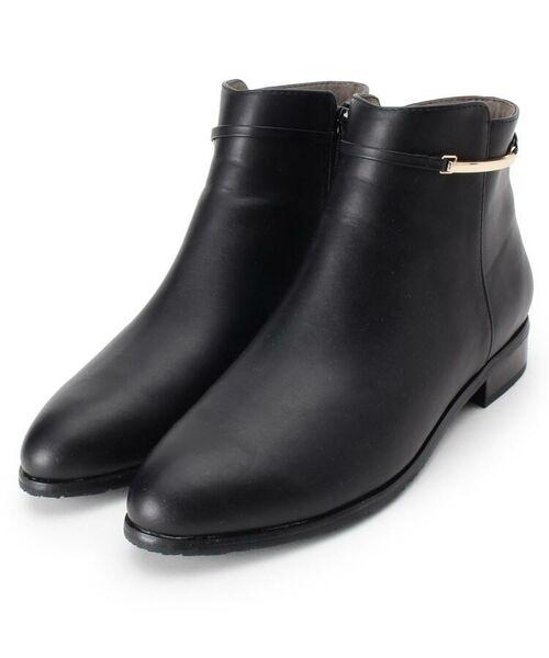 grove / グローブ ブーツ(ショート丈)   メタルベルト風ショートブーツ(ブラック(019))