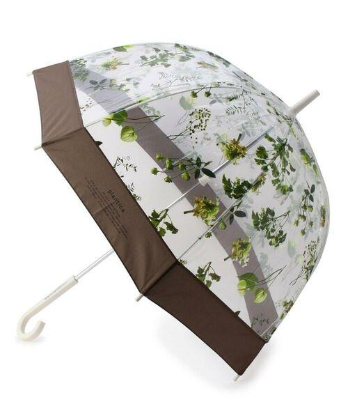 grove / グローブ 傘 | Wpc.フラワービニール傘(長傘)(ブラウン(842))