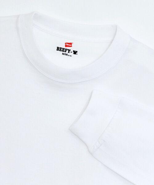 Hanes / ヘインズ Tシャツ   BEEFY長袖Tシャツ   詳細1