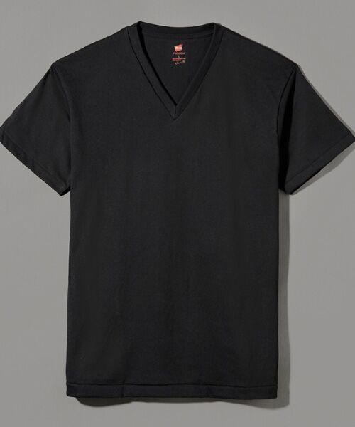 Hanes / ヘインズ Tシャツ | Hanes Premium Japan Fit半袖Tシャツ(090ブラック)
