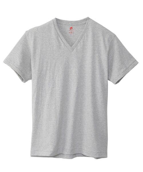 Hanes / ヘインズ Tシャツ | Hanes Premium Japan Fit半袖Tシャツ(060ヘザーグレー)