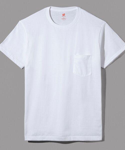 Hanes / ヘインズ Tシャツ | Hanes Premium Japan Fit半袖Tシャツ(010ホワイト)