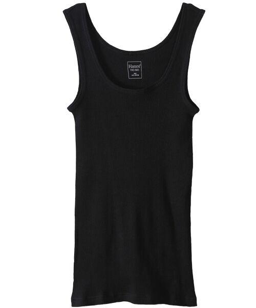 Hanes / ヘインズ Tシャツ | Hanes Undiesタンクトップ(090ブラック)