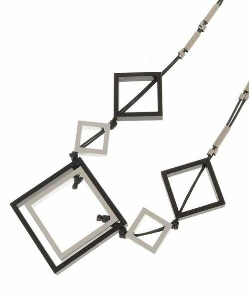 HIROKO BIS / ヒロコビス ネックレス・ペンダント・チョーカー | スクエアーパーツデザインネックレス | 詳細1