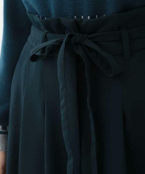 HIROKO BIS / ヒロコビス その他パンツ | 【洗濯機で洗える】ミディ丈タックワイドパンツ | 詳細4