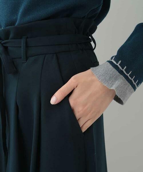 HIROKO BIS / ヒロコビス その他パンツ | 【洗濯機で洗える】ミディ丈タックワイドパンツ | 詳細5