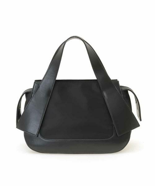 HIROKO BIS / ヒロコビス トートバッグ   ジョイントデザイン牛革ハンドバッグ(ブラック)