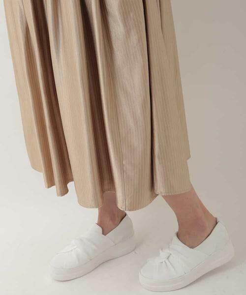 HIROKO BIS / ヒロコビス ロング・マキシ丈スカート | チョークストライプタックスカート | 詳細7