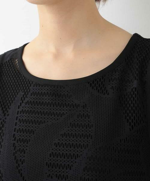 HIROKO BIS / ヒロコビス カットソー | 【洗える】デザインメッシュタンクトップ&Tシャツセット | 詳細4