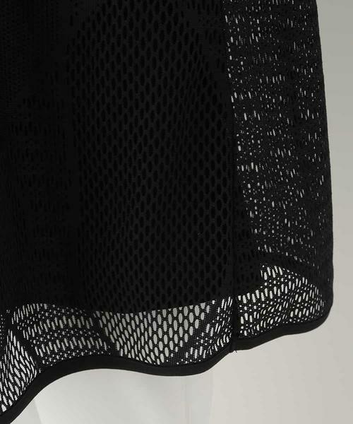 HIROKO BIS / ヒロコビス カットソー | 【洗える】デザインメッシュタンクトップ&Tシャツセット | 詳細6