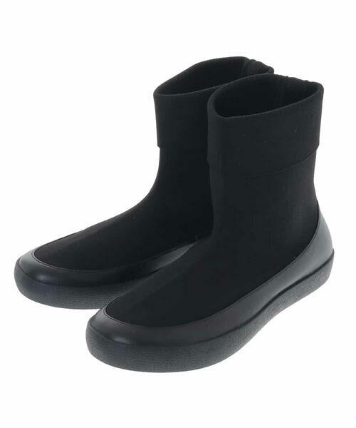 HIROKO BIS / ヒロコビス ブーツ(ロング丈) | デザインニットブーツ(ブラック)