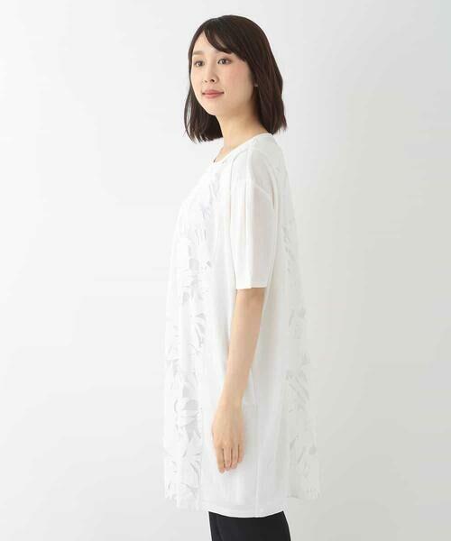 HIROKO BIS / ヒロコビス チュニック   【洗える】オパールリーフチュニック   詳細2
