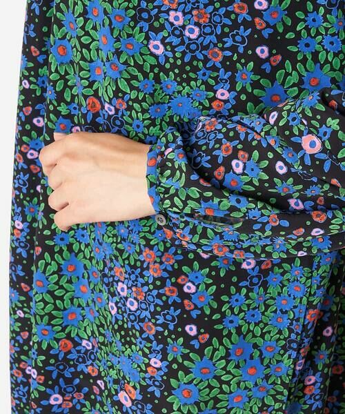 HIROKO BIS / ヒロコビス ロング・マキシ丈ワンピース | 【洗濯機で洗える】フラワープリントワンピース | 詳細7