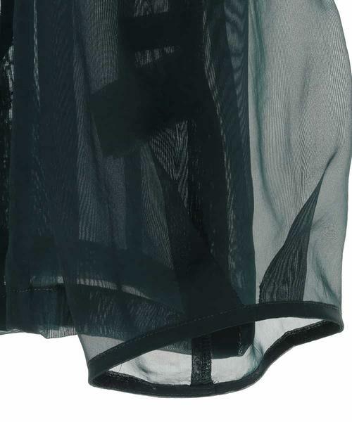 HIROKO BIS GRANDE / ヒロコビス グランデ ノーカラージャケット   オーガンジーショートジャケット   詳細3