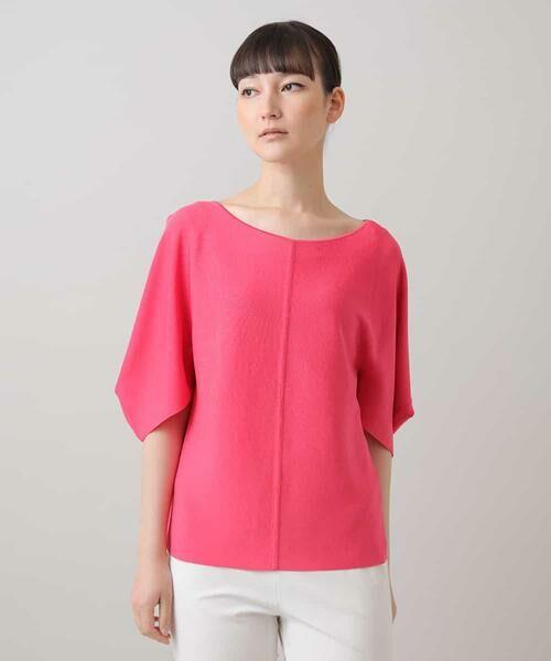 HIROKO KOSHINO / ヒロココシノ ニット・セーター   ハイツイストレーヨンニット(ピンク)