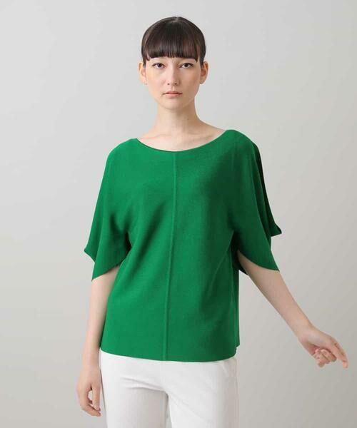 HIROKO KOSHINO / ヒロココシノ ニット・セーター   ハイツイストレーヨンニット(グリーン)